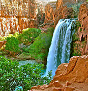 Reservations Framed Prints - Havasu Falls Canyon Framed Print by Brent Sisson