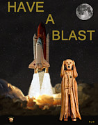 Space Shuttle Program Mixed Media Posters - Have a Blast Poster by Eric Kempson