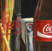 Coca Cola Painting Framed Prints - Have a Coke... Framed Print by Rob De Vries