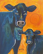 Gretzky Paintings - Have A Cow by Paintings by Gretzky
