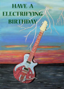 Liverpool Mixed Media - Have a Electrifying Birthday by Eric Kempson
