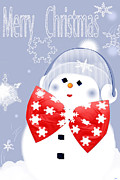 Season For Blessings Card Posters - Have A Frosty Holiday Poster by Debra     Vatalaro