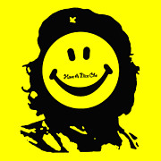 Smiley Face Posters - Have A Nice Che Guevara Poster by Tony Rubino