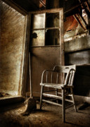 Old Chair Posters - Have a Seat Poster by Lori Deiter