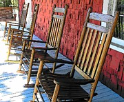 Rocking Chairs Digital Art Prints - Have a Sit Down  Print by Sheri McLeroy