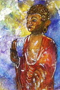 Tibetan Buddhism Paintings - Have No Fear--Winking Buddha by Gloria Avner