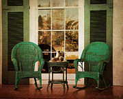Wicker Chairs Framed Prints - Have Tea With Me Framed Print by Jai Johnson