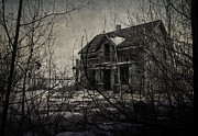 Haunted House Photo Posters - Haven Of Harm Poster by Jerry Cordeiro