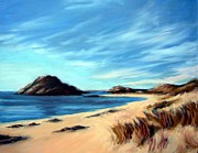 Farsund Paintings - Havik Beach by Janet King