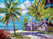 Hawaii Beach Shack Print by David Lloyd Glover