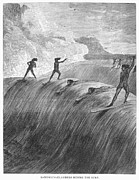 1878 Photos - Hawaii: Surfing, 1878 by Granger