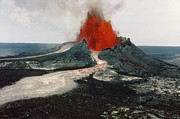 1984 Photo Framed Prints - Hawaii: Volcanos, 1984 Framed Print by Granger