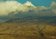 Generators Art - Hawaii Windmills on Maui One by Vance Fox