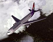 Commercial Digital Art Posters - Hawaiian Airlines Boeing 767-300ER Poster by Mike Ray