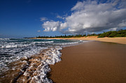 Kauai Island Posters - Hawaiian Beach on the Island of Kauai in the Surf Poster by ELITE IMAGE photography By Chad McDermott