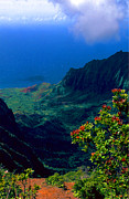 Hawaiian Islands Prints - Hawaiian Cliffs Print by Ron Regalado