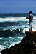 Hawaiian Food Photos - Hawaiian Fisherman by Marilyn Hunt