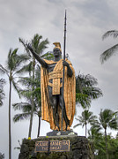 Native Ruler Prints - Hawaiian King Kamehameha Print by Daniel Hagerman