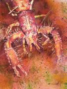 Claw Painting Metal Prints - Hawaiian Lobster Metal Print by Tanya L Haynes - Printscapes