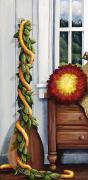 Indoor Painting Prints - Hawaiian Still Life Panel Print by Sandra Blazel - Printscapes