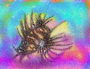 Hawaiian Fish Digital Art Prints - Hawaiian Turkey Fish Print by Mike Moss