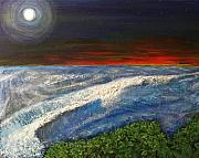 Moonshine Paintings - Hawiian View by Michael Cuozzo