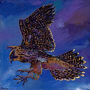 Red Tail Hawk Paintings - Hawk Flight by Johnathan Harris