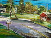 Powerlines Paintings - Hawk Hill by Scott Nelson