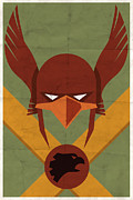 Vintage Books Framed Prints - Hawkman Framed Print by Michael Myers