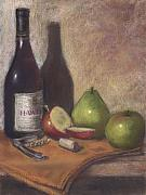 Cork Pastels Framed Prints - Hawley Wine Tasting Framed Print by Ellen Minter
