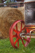 Hay Bale Photos - Hay and a Tractor by Joann Vitali