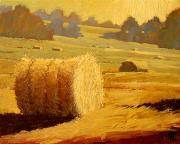 Hay Bales Of Bordeaux Print by Robert Lewis
