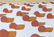 Hay Balesin Winter Print by John  Turner