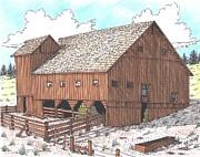 Hay Barn Print by Bill Friday