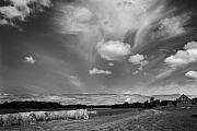 Stephen Mack Prints - Hay Field and Barn Clarks Lake Road Print by Stephen Mack