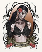 Dead Drawings Prints - Hay mas tiempo que vida Print by Pete Tapang