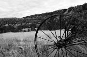 Ewing Prints - Hay Rake at the Ewing-Snell Ranch Print by Larry Ricker