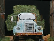 Old Trucks Pastels - Hay Truck by Michele Turney
