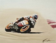 Honda Motorcycles Prints - Hayden Print by Greg Brauch