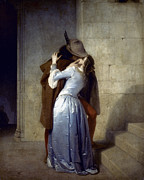 Hayez Posters - Hayez: The Kiss Poster by Granger