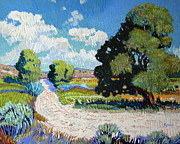 Cottonwood Paintings - Hayfields by Kenneth Green