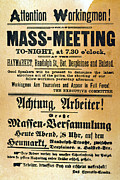 Martyrs Photo Prints - Haymarket Handbill, 1886 Print by Granger
