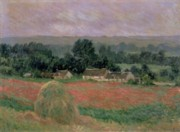 Farmhouses Art - Haystack at Giverny by Claude Monet