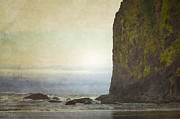Oregon Photos Framed Prints - Haystack Ocean Framed Print by Andrea Hazel Ihlefeld