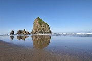 Haystack Framed Prints Framed Prints - Haystack Rock 3 Framed Print by Mauro Celotti