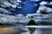 Water Prints - Haystack Rock Print by David Patterson