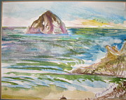 Pacific City Paintings - Haystack Series I by Forrest Goldade