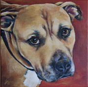 Soulful Eyes Paintings - Haze by Julie Dalton Gourgues
