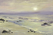 Laguna Beach Paintings - Hazy Day by Lisa Reinhardt