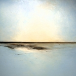 Oceanscape Paintings - Hazy Reflections by Christine Deckert